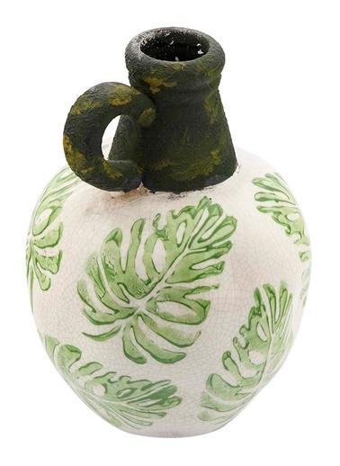 Vitale Seramik Kulplu Vazo Küçük Boy Yeşil